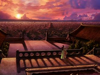 File:Katara and Aang by Jasmine Dragon's balcony.png