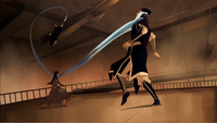 Ming-Hua defeats sentries