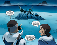 Katara and Sokka at the shipwreck
