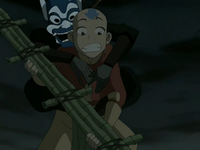 Blue Spirit and Aang