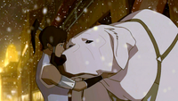 Naga concerned about Korra