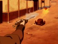 Zuko fighting Gow