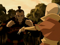 Zhao fighting Aang