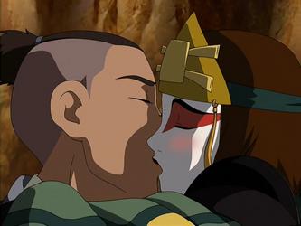 File:Sokka and Suki kiss.png