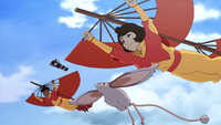 Jinora and Kai fly