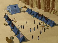 Water Tribe camp