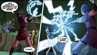 Azula attacks Misu and Rafa