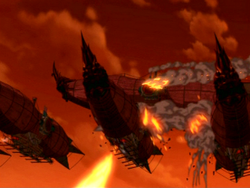 Airship battle