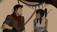Korra and Mako sharing their feelings