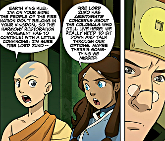 File:Aang and Katara talking to Kuei.png