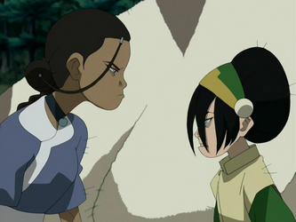 File:Toph and Katara.png