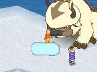 Aang talking to Katara