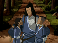 Katara, Sokka, and Bato hug.png