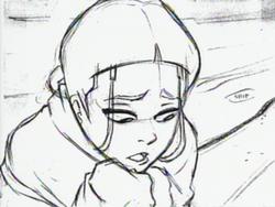 Sketch of a sorrowful Katara