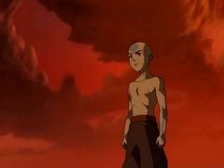 Aang after battling Ozai