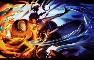 Korra and Aang fanart