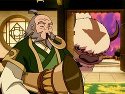 Iroh plays the tsungi horn