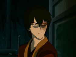 Zuko preparing to confront Team Avatar
