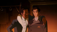 Varrick trying to bribe Mako