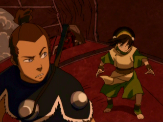 File:Toph and Sokka atop airship.png