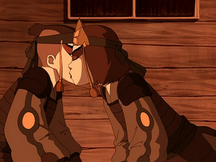 Suki kisses Sokka