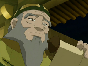 Iroh reads a scroll