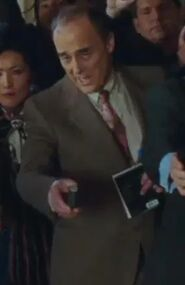 Garrick Hagon as Denver Reporter