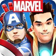 Buddies-selfie-Cap and Tony