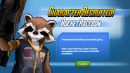 Character Recruited! Rocket Raccoon