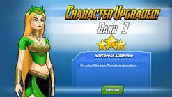 Character Upgraded! Enchantress Rank 3