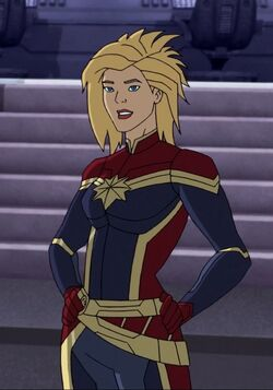 Carol Danvers (Earth-12041) from Marvel Super Hero Adventures Frost Fight