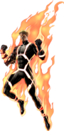 Annihilus Human Torch Right Portrait Art