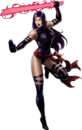 Psylocke Right Portrait Art