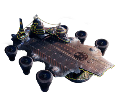 Helicarrier with Christmas Theme