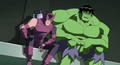Hawkeye and Hulk watch Iron Man fight.png
