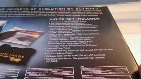 Prometheus to Alien The Evolution Box Set UK Blu-Ray Unboxing PART 1