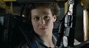 Ripley in Power Loader cockpit close-up