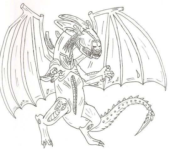 File:Predalien Dragon lineart by xtreamxboxer.jpg