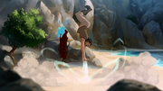 Bumi discovers airbending.png