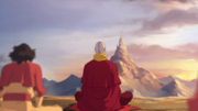 Tenzin meditating with airbenders.png