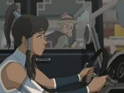 Korra driving satomobile