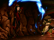 Azula firebends at Toh