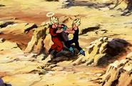 Goku & Majin Vegeta Fighting 4