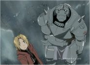 The Elric Brothers Standing in Rain 2