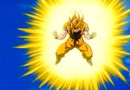 Goku Transforming into Super Saiyan 3