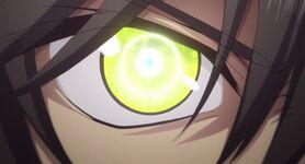Yuu's eye lime green
