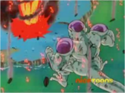 Frieza Believing That he has Defeated Goku