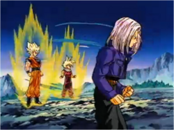 Trunks Preparing to Fight Broly Alongside Goku & Gohan
