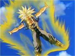 Trunks Transforms During his Fight With Tien