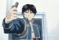 Roy Mustang After Successfully Killing Lust in Brotherhood